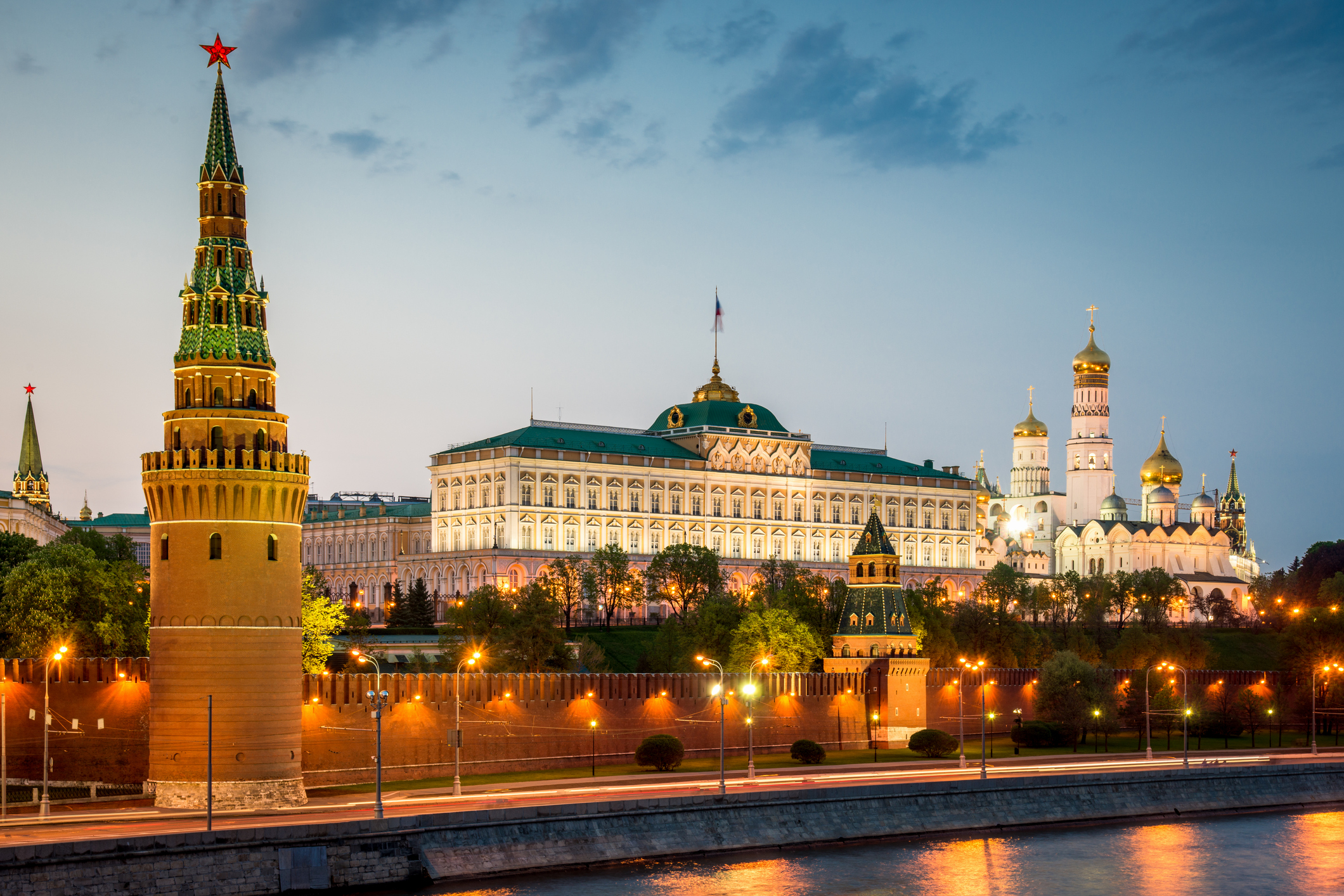 Kremlin in Moscow at Sunset Twilight Russia - Blackstone ...